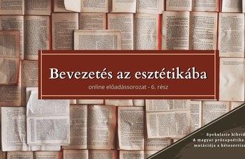 Az ELTE Esztétika Tanszék sorozatában Nemes Z. Márió tart előadást.
