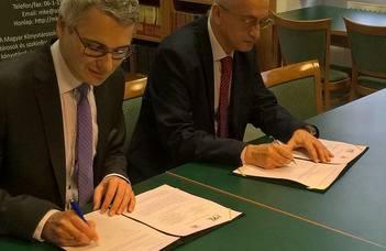 Szakmai együttműködés a Magyar Könyvtárosok Egyesületével