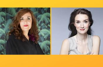 A spanyol és a magyar női sikerszerzők estjeinek résztvevői Elvira Lindo és Ugron Zsolna.