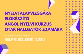2020/21 ősz | Nyelvi alapvizsgára előkészítő angol nyelvi kurzus OTAK hallgatók számára