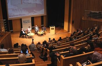 Az Atelier Interdiszciplináris Történeti Tanszék konferenciája a Francia Intézetben.
