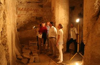 Elnöki látogatás az ELTE egyiptomi ásatásán