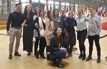 Brüsszeli tanulmányúton az EMCI hallgatói